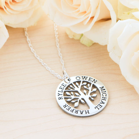 Mothers Day Family Tree Necklace