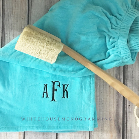 Monogram Bath Wrap