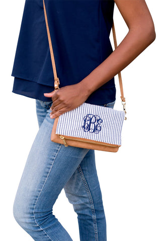 Seersucker crossbody whitehousemonogramming