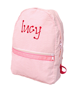 Personalized Seersucker Toddler Small Backpacks