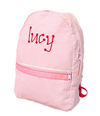Personalized Seersucker Toddler Small Backpacks - White House Monogramming  - 1
