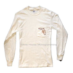 Long Sleeve State Tee - White House Monogramming  - 1