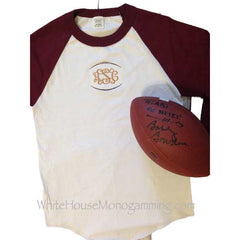 Raglan Tee Football Monogram - White House Monogramming