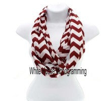 Chevron Infinity Scarves - Lightweight - White House Monogramming  - 1