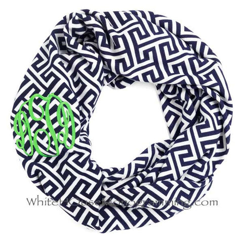 Greek Key Infinity Scarves - Supersoft