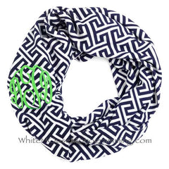 Greek Key Infinity Scarves - Supersoft - White House Monogramming  - 1