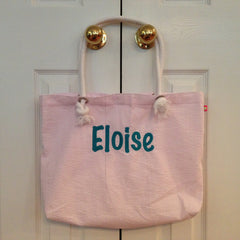 Seersucker Tote Bag - White House Monogramming