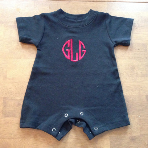 Boys Black Romper