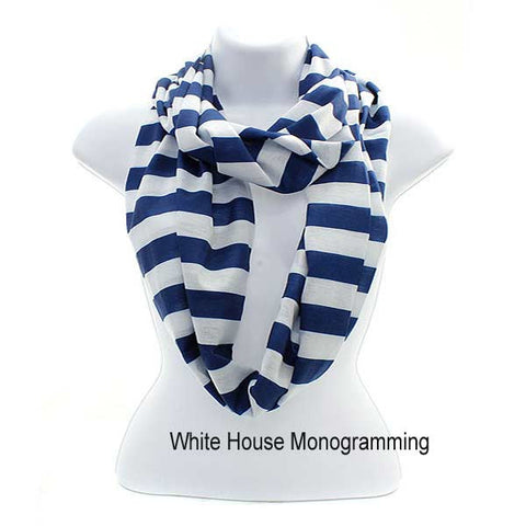 Striped Infinity Scarves - Lightweight