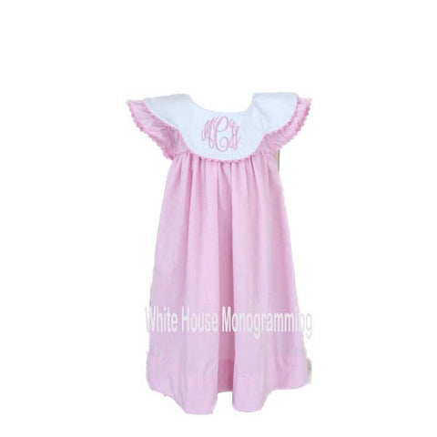 Girls Gingham Bishop Dress