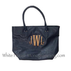 Classic Handbag Tote - White House Monogramming  - 3