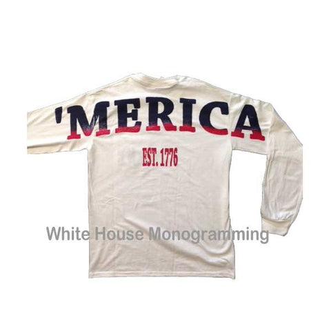 Merica Stadium Print Frocket Shirt Long Sleeve