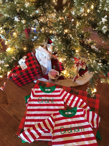 Children's Striped Christmas Pajamas