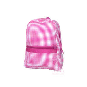 Personalized Gingham Toddler Backpack
