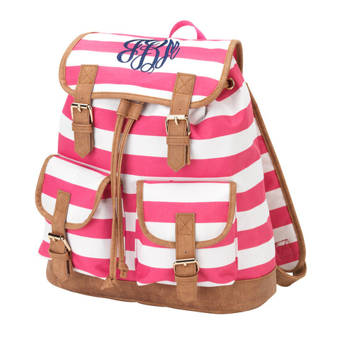 Pink Stripe Campus Backpack