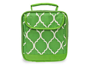 Lime Quatrefoil Lunch Box
