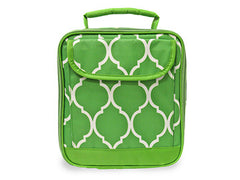 Lime Quatrefoil Lunch Box - White House Monogramming
