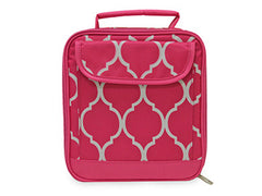 Pink Quatrefoil Lunch Box - White House Monogramming