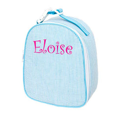 Seersucker Lunchbox - White House Monogramming  - 1