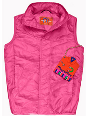 Children's Magnet Closure Quilted Vest - White House Monogramming  - 1