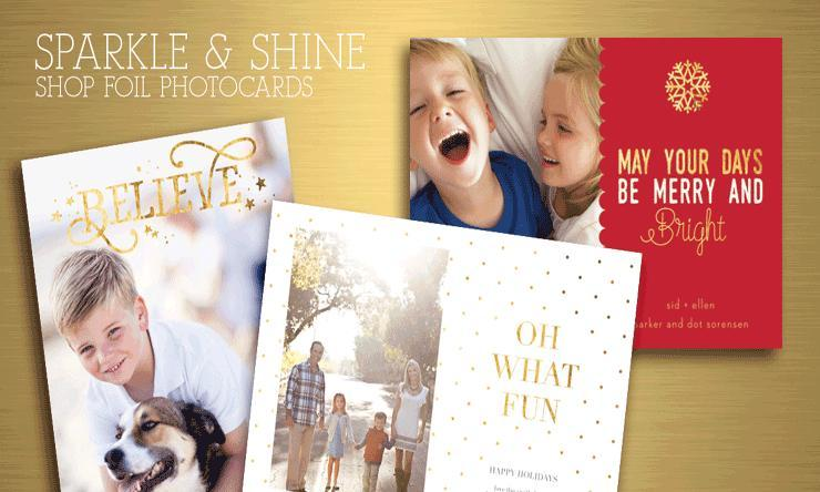 Foil Holiday Photocards