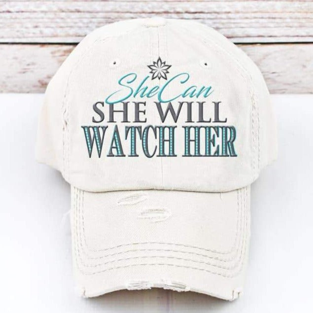 She Can She Will Trucker Hat