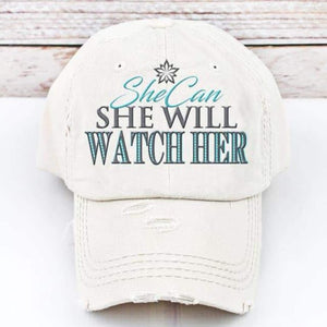 Spring Trucker Hat: She Can She Will