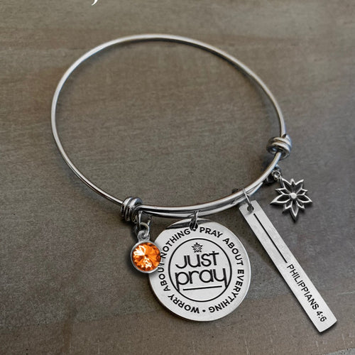 Charmed by Sanctuary Girl: Just Pray Bracelet