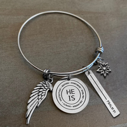 Charmed by Sanctuary Girl: Psalm 91 Bracelet