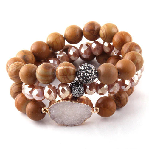 Woodtone Bracelet Stack Set