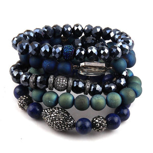 Midnight Blue Bracelet Stack Set