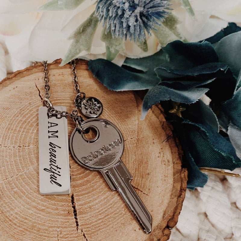 Last Chance: I Am Beautiful Tag Necklace
