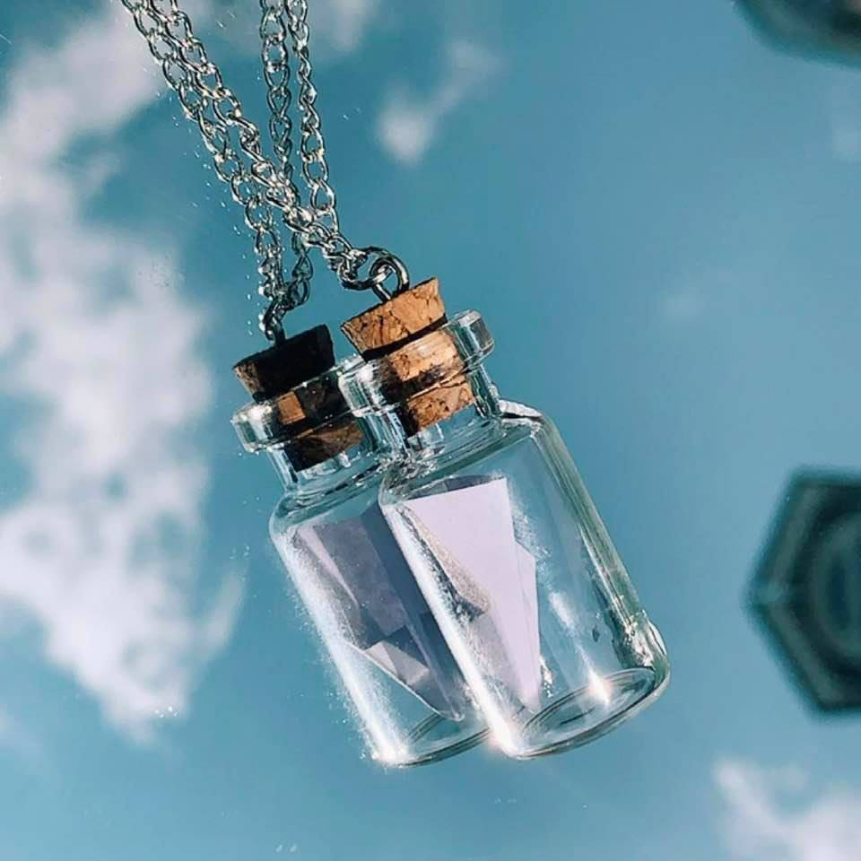 Letter in a Bottle Necklace