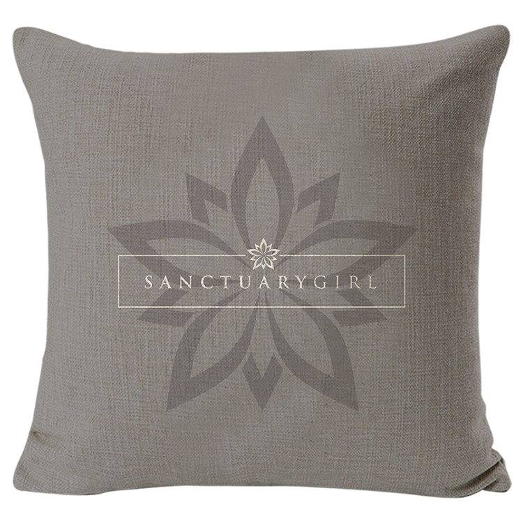 Sanctuary Girl Canvas Pillow Cover