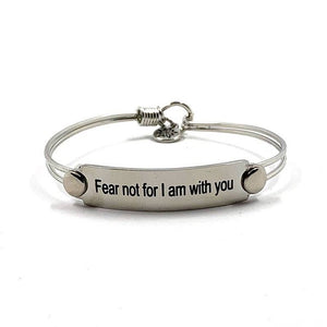 Fear Not Wire Bangle
