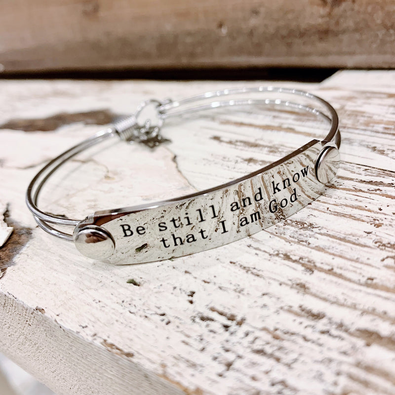 The War Room: Be Still & Know That I Am God Scripture Bangle
