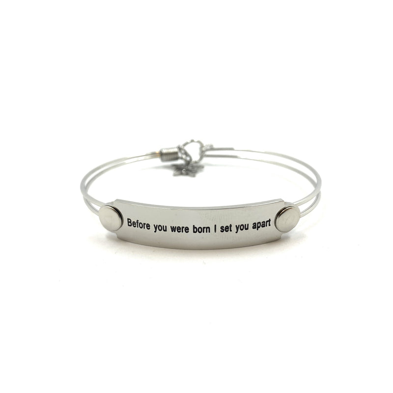 The War Room: Before You Were Born Scripture Bangle