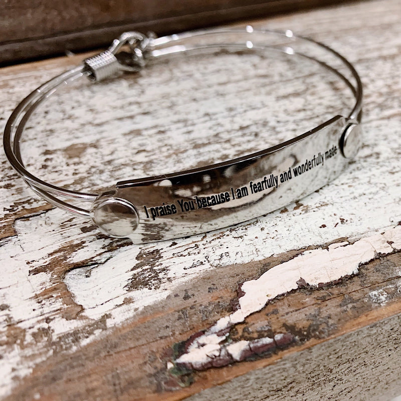The War Room: Fearfully & Wonderfully Made Scripture Bangle