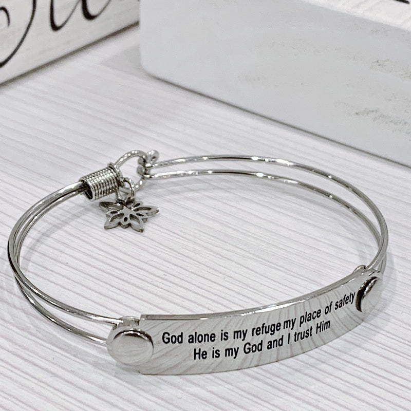 The War Room: God My Refuge Scripture Bangle
