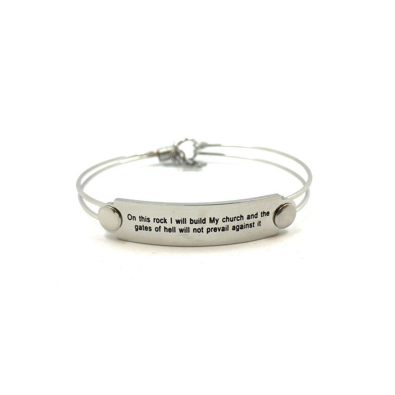 The War Room: On This Rock Scripture Bangle