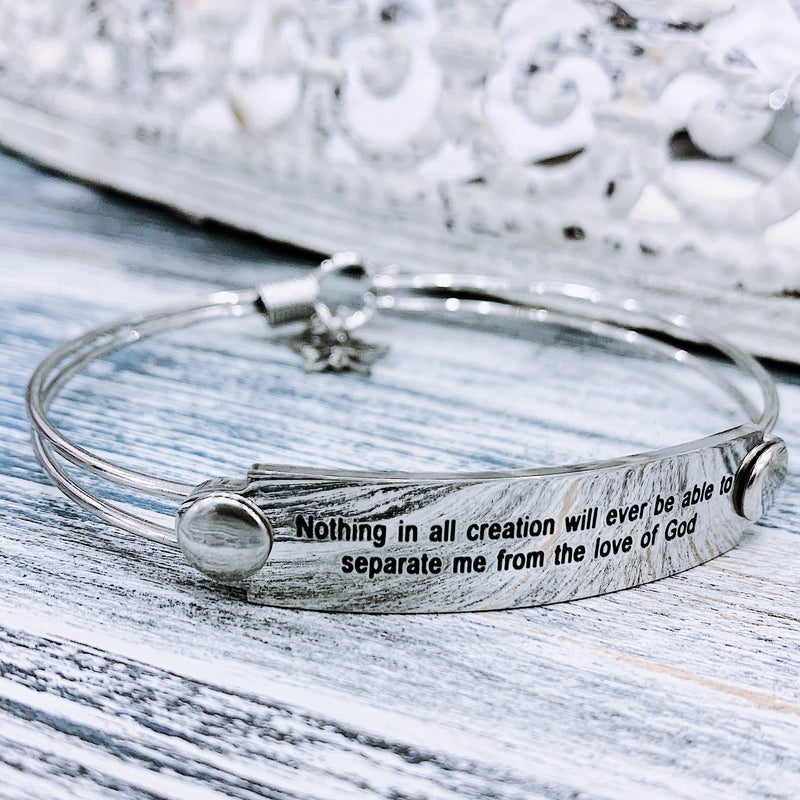 The War Room: Nothing Can Separate Me Scripture Bangle