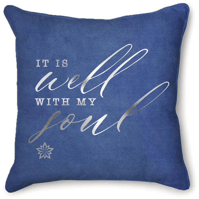 It Is Well Velvet Pillow Cover