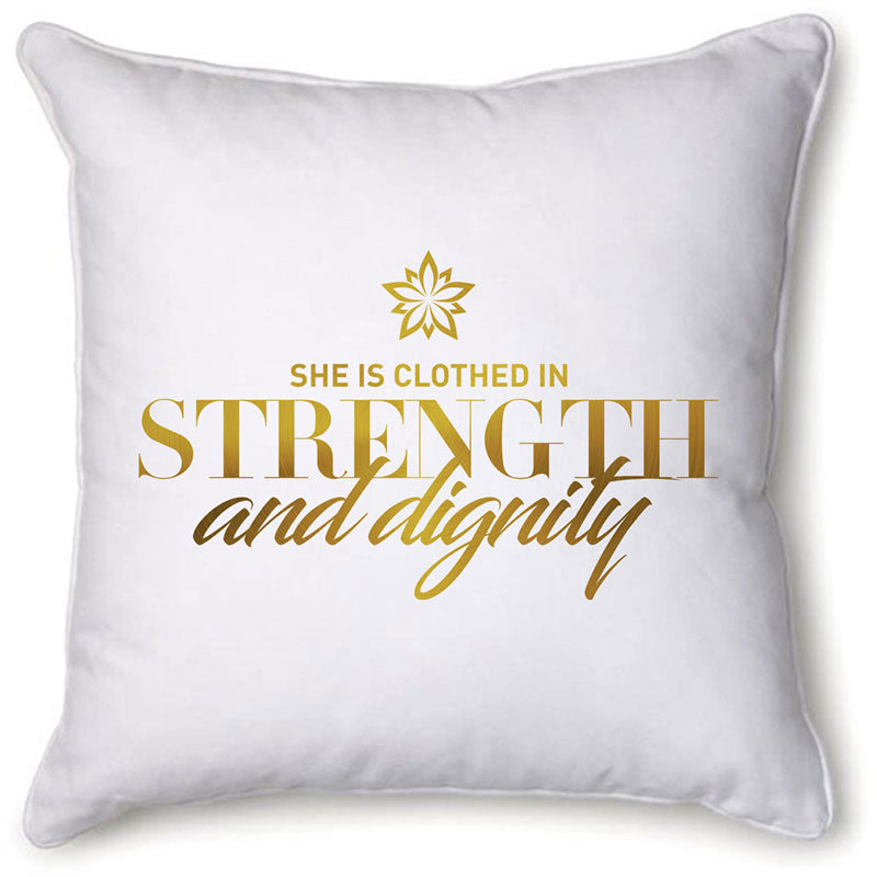 Strength & Dignity Velvet Pillow Cover