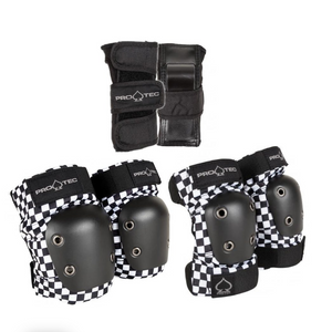 Pro-Tec - Black Checker Junior Pads 3 Pack