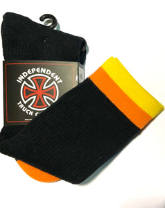 Independent Trucks Socks - Black / Orange / Yellow