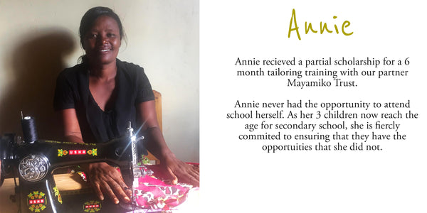 Scholarship recipient - Annie with Mayamiko Trust in Malawi