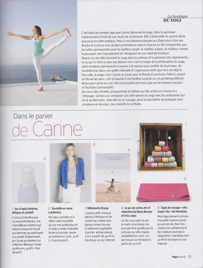 Yoga Journal France - Carine Castet Editorial Picks