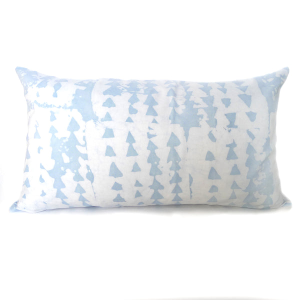 hand batiked pillows in blue
