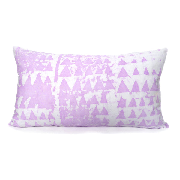 hand batiked pillows in lavender