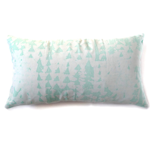 hand batiked pillows in mint green